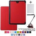 """Tab 9.7 case cáscara piel de la cubierta de cuero original para samsung galaxy tab a 9.7 t555 t550 t550 p550 9.7 """"tablet case + stylu + film"""