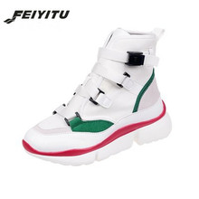 FeiYiTu Hot Casual Shoes Womens Spring Autumn Sneakers Buckle Strap High/Low Top Lady Fashion Platform Footwear