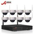 2 TB HDD 8CH HDMI NVR Sistema CCTV 720 P HD Inalámbrico H.264 IR de Visión Nocturna Cámara Domo IP de Seguridad WIFI de Vigilancia sistema