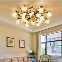 Home Glas lampenschirm Decke Beleuchtung Bar glas Blume Decke Lichter Kreative E14 Led schlafzimmer decke Leuchten Für Wohnzimmer-in Deckenleuchten aus Licht & Beleuchtung bei