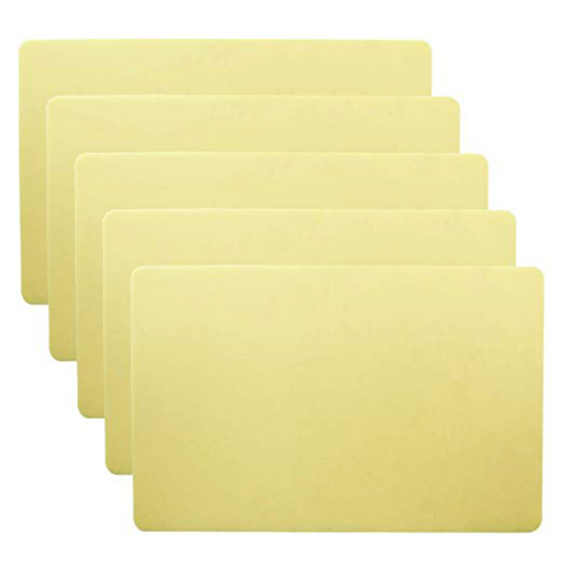 5PCS 15*20*0.12cm Tattoo Skin Practice Thick Blank Double Sides Tattoo Practice Skin Soft Silicone Pading