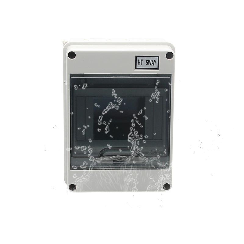 HT Series 5Way IP65 Waterproof and Dustproof  Distribution Box MCB BOX ABS PC Material for Circuit Breakers Indoor on the Wall  HT Series 5Way IP65 Waterproof and Dustproof  Distribution Box MCB BOX ABS PC Material for Circuit Breakers Indoor on the Wall