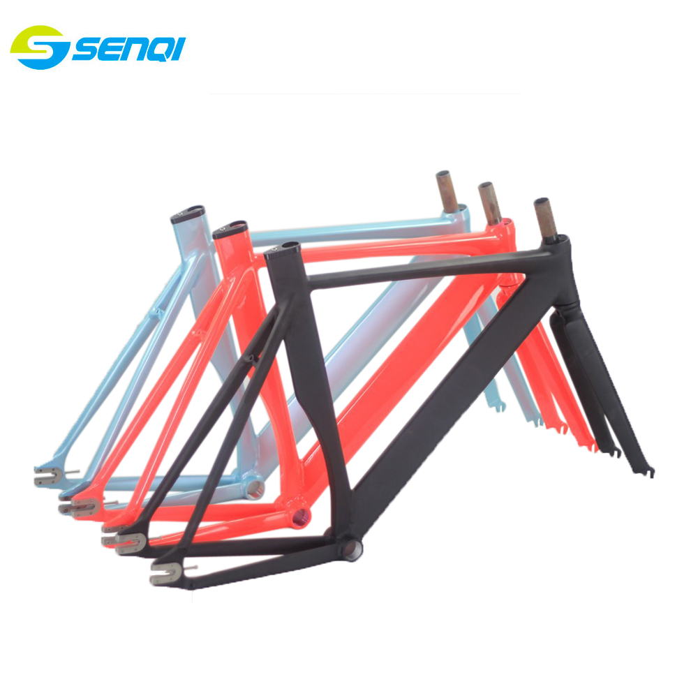 2015 Top Quality 54CM Smooth Welding Track Bike Fixed Gear Bicycle Frame Frame and fork together free shipping блесна stinger catcher