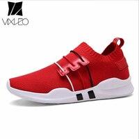 VIXLEO 뜨거운 경량 실행 신발 스포츠 신발 스마트 칩 남성 블랙 운동화 통기성 남자 신발 사이즈 36-44