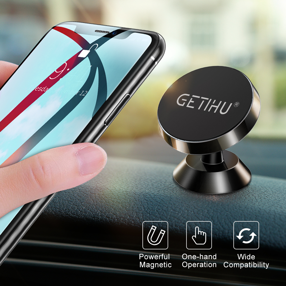 GETIHU Magnetic Car Holder Mini Air Vent Mount Magnet Mobile Phone Holder Universal For IPhone X Xs MAX 8 6s Phone Stand In Car