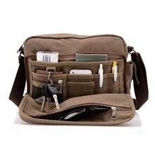 Hot! High Quality Multifunction Men Canvas Bag Casual Travel Bolsa Masculina Men's Crossbody Bag Men Messenger Bags