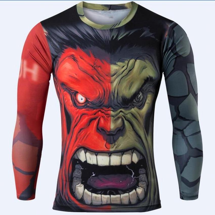 men fashion marvel avengers captain America spider man long sleeve T-shirt men fitness t-shirts