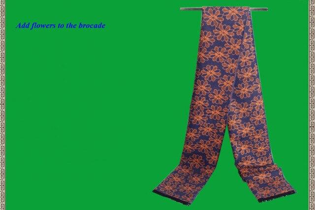 Новое поступление чистой щеткой шелковый мужчины тепловой шарф, 100% щеткой шелк бизнес длинные шарфы мужчин