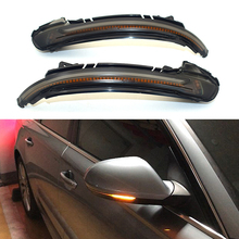 Car Side Wing Rearview Mirror Blinker Indicator Led Dynamic Turn Signal Light For Audi A6 C7 C7.5 Rs6 S6 4g 2012 - carbon fiber replaced side mirror cover for audi a6 c7 2012 2016 a6 s6 rs6 2013 2016