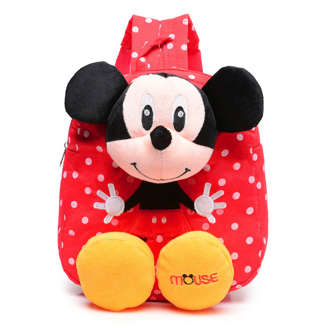 Cartoon Mickey Baby Kids Plush Backpack Toys Mini School Bag Children s Gift  Kindergarten Boy Girl Student 15b98fc17b9fe