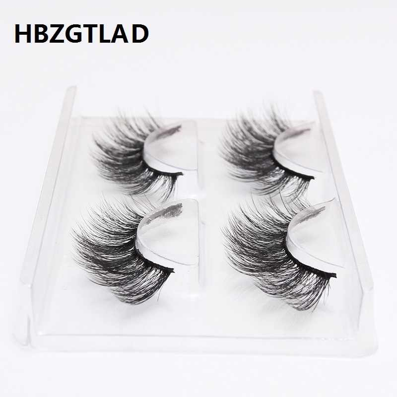 HBZGTLAD 2 pairs natural false eyelashes fake lashes long makeup 3d mink eyelashes eyelash extension mink eyelashes for beauty