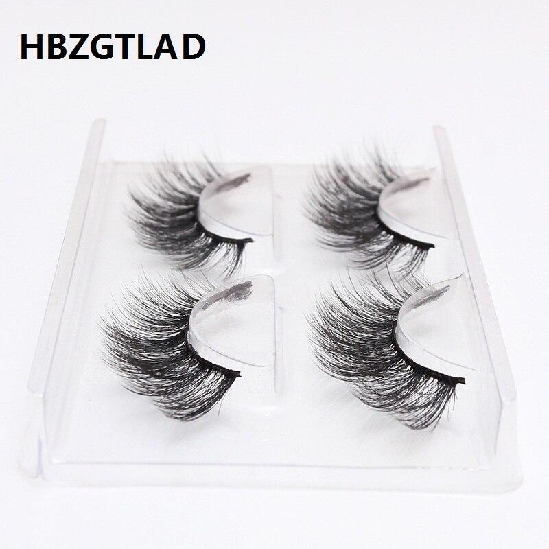 все цены на HBZGTLAD 2 pairs natural false eyelashes fake lashes long makeup 3d mink lashes eyelash extension mink eyelashes for beauty 759 онлайн