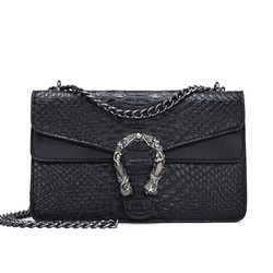 Fashion Brand Women Bags Alligator PU leather Messenger Bag Designer Chain Shoulder Crossbody Bag Women Handbag Bolso Mujer