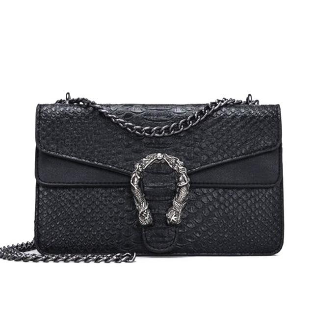 de9550b817ba US $10.61 49% OFF Fashion Brand Women Bags Alligator PU leather Messenger  Bag Designer Chain Shoulder Crossbody Bag Women Handbag Bolso Mujer -in ...