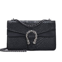 Fashion Brand Women Bags Alligator PU leather Messenger Bag Designer Chain Shoulder Crossbody Bag Women Handbag Bolso Mujer