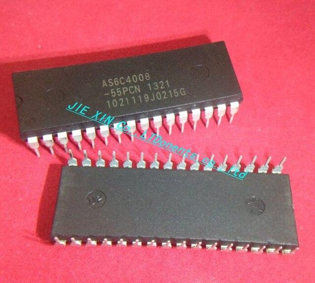 Envío Gratis 5 unids/lote AS6C4008-55PCN AS6C4008-55 IC, SRAM, 4 MBIT 55NS 32DIP 6C4008 AS6C4008