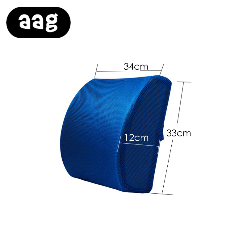 AAG Seat Back Space lumbar Support Cushion Soft Memory Foam Back Massager Waist Cushion Pillow Home Office Car Seat Pillows in Cushion from Home Garden