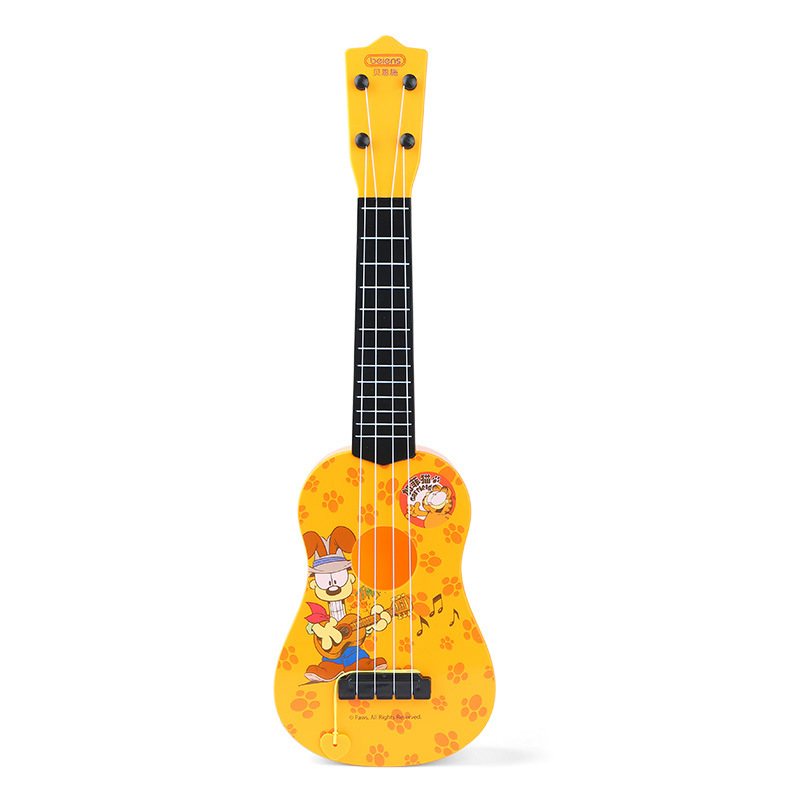 Ukulele Kids Toy Playable 4 String Guitar Fingerboard Hawaii Mini Guitar Instrument Ukelele Unisex For Beginners