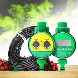 25 mdiy micro sistema de irrigação por gotejamento planta rega automática controlador temporizador para jardim planta rega dispositivo interior