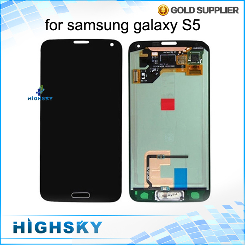 10 pcs/lot Free DHL EMS 100% Tested New For Samsung Galaxy S5 LCD Display i9600 SM-G900 SM-G900F G900 Screen With Touch Assembly dhl ems 5 new for pro face touchscreen glass agp3300 l1 d24 f4