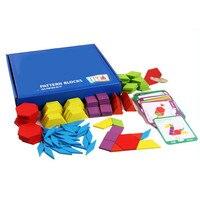 155 шт деревянная настольная игра-головоломка набор Красочные Детские Обучающие деревянные игрушки для детей Обучающие Развивающие игрушки