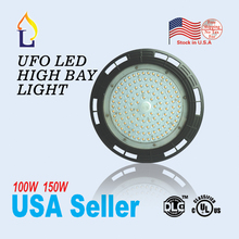 5pcs/lot UL DLC led UFO high bay light lamp 100W 150W Industrial ledAC100-277V ip65 5 years warranty ufo ceiling