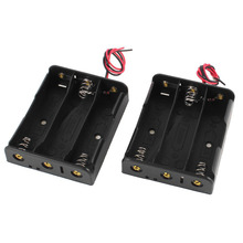 20pcs/lot MasterFire 3.7V Flat Tip Black Plastic 18650 Battery Storage Case Cover Box Holder for 3 x Batteries