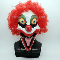 Joke Stephen King's It Clown Mask Latex Halloween Overhead Full masks red hair Taimi tech