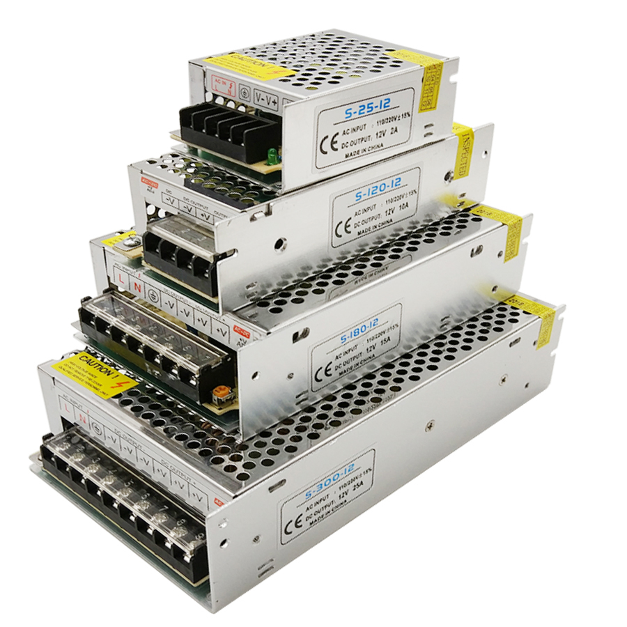 Power Supply LED Driver DC 12V Small Volume Single Transformer 5A 15A 25A 3A Dc12v Volt Output Switching Led For LED Strip