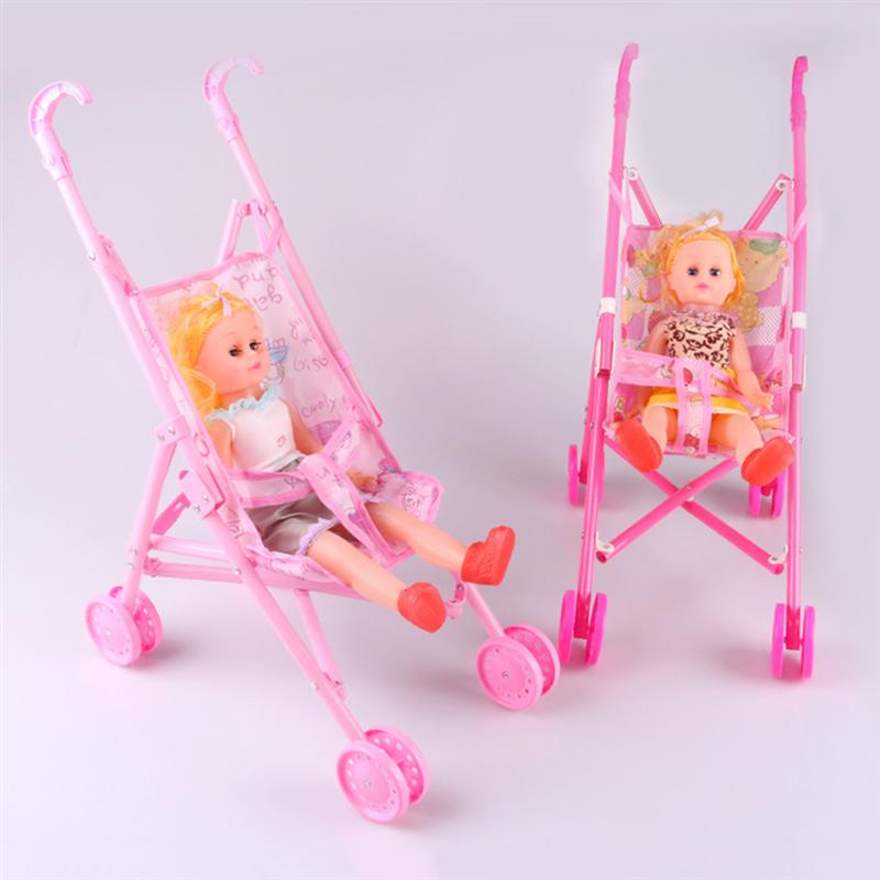 New Baby Carriage Stroller Trolley Nursery Furniture Toys For Barbie Doll
