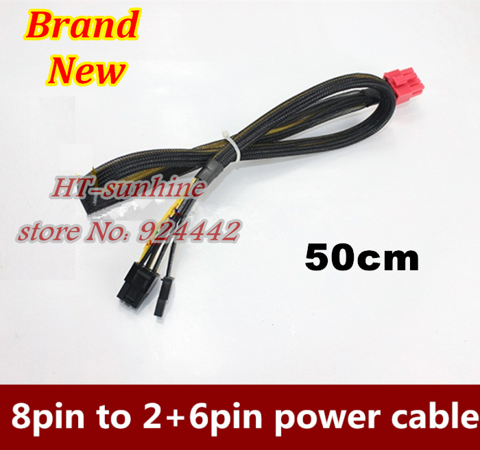 New 50cm PCI-E graphics card modular power cable PSU 8pin to PCI E Express 8pin 6pin+2pin for Antec ECO TP NP Series 18AWG купить