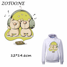 ZOTOONE Heat Transfer Clothes Stickers Headset Dog Patches for T Shirt Jeans Iron-on Transfers DIY Decoration Applique Clothes C 50pcs wholesale bird heat transfers iron on patches for coat jeans t shirt clothes decorative diy craft stickers applications