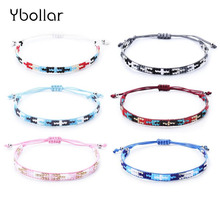 1pc Bohemian Seed Beads Bracelet Handmade Friendship Braided Rope Woven Rice For Women Charm Jewelry Gift