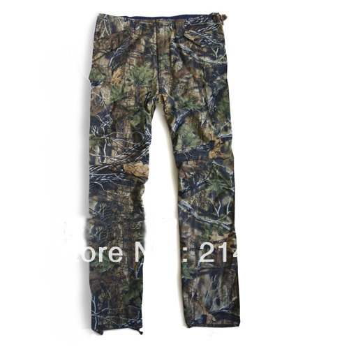 Pure Cotton Bionic leaves Cmouflage Pants for hunting safari gear Trousers Hunter Clothes