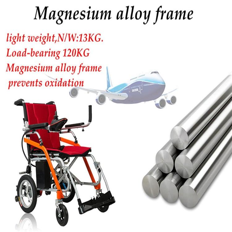 Free Shipping High Quality Lightweight Folding Net Weight 13kg Ultra Light Portable Electric Wheelchair