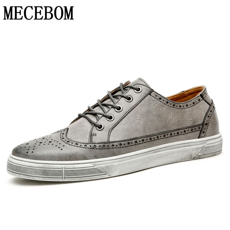 Men's Brogue board shoes new spring split leather men shoes lace-up casual shoes for male chaussure homme size 39-44 9975m dxkzmcm men casual shoes lace up cow leather men flats shoes breathable dress oxford shoes for men chaussure homme