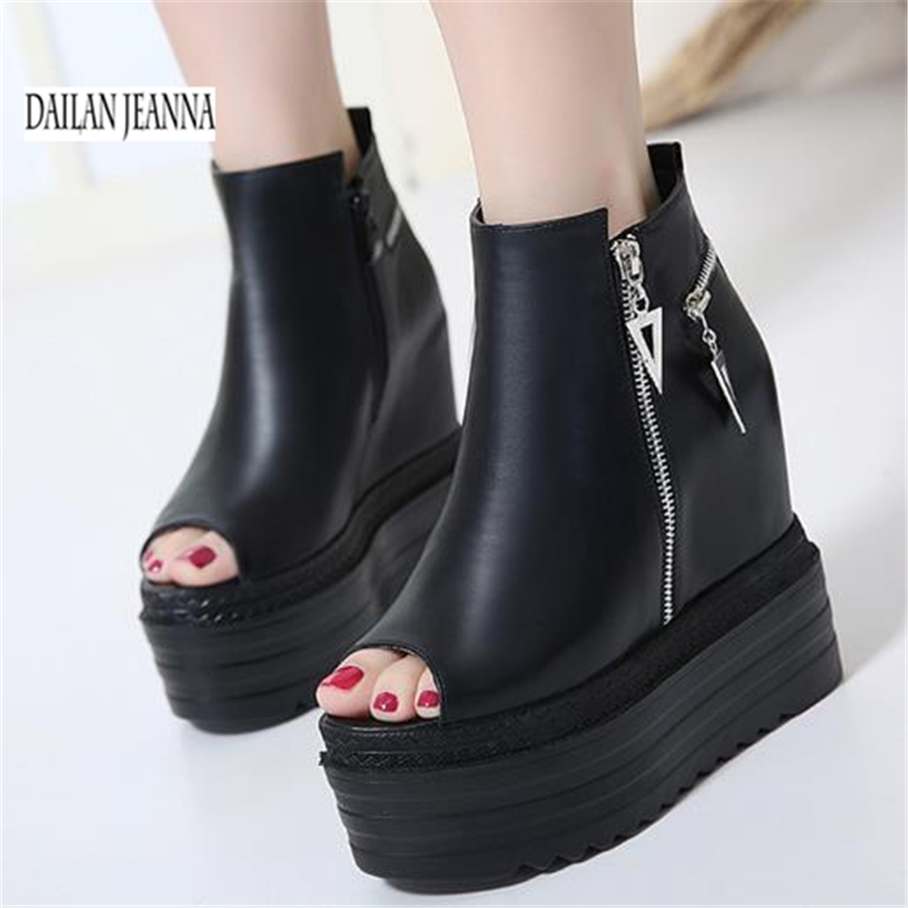 Women's Shoes Sandals High-Heeled-Shoes Wedge Thick-Soled Summer Roman Increased Sexy