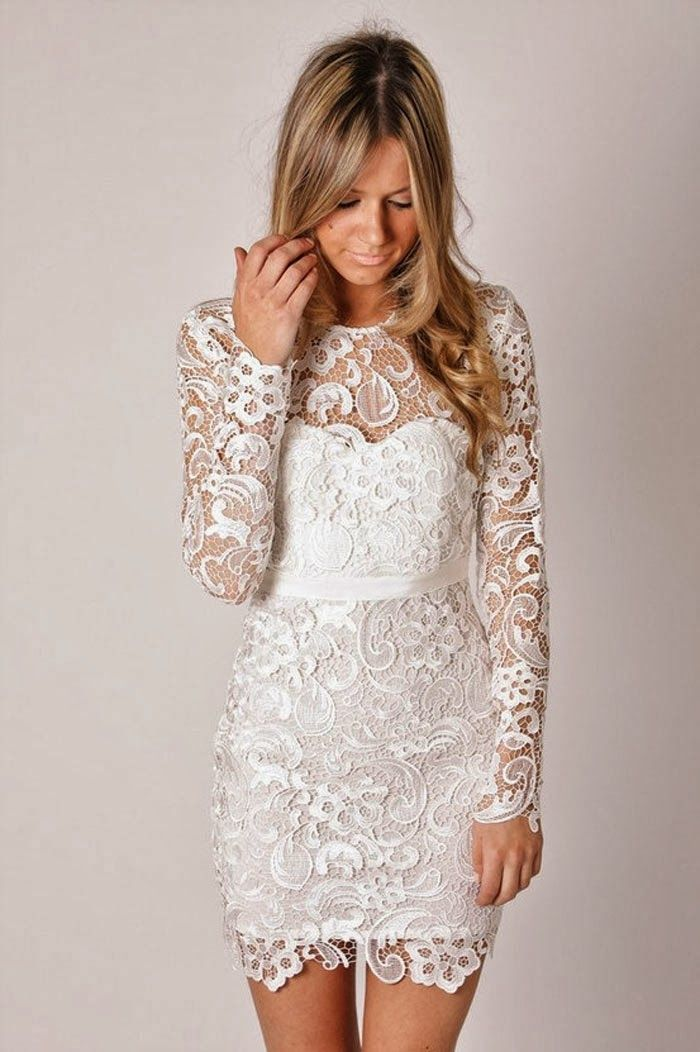 0fa18029d6b Vestidos Custom Made 2014 New Arrival Sparkly Boat Neck Long Sleeve White  Lace Short Prom Dresses Homecoming Party Gown-in Prom Dresses from Weddings  ...