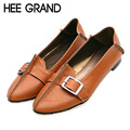 HEE GRAND 2016 Ballet Flats Casual Shoes Woman Summer Style Loafers Spring  Pointed Toe Women Flat Shoes Slip On Oxfords XWD3494