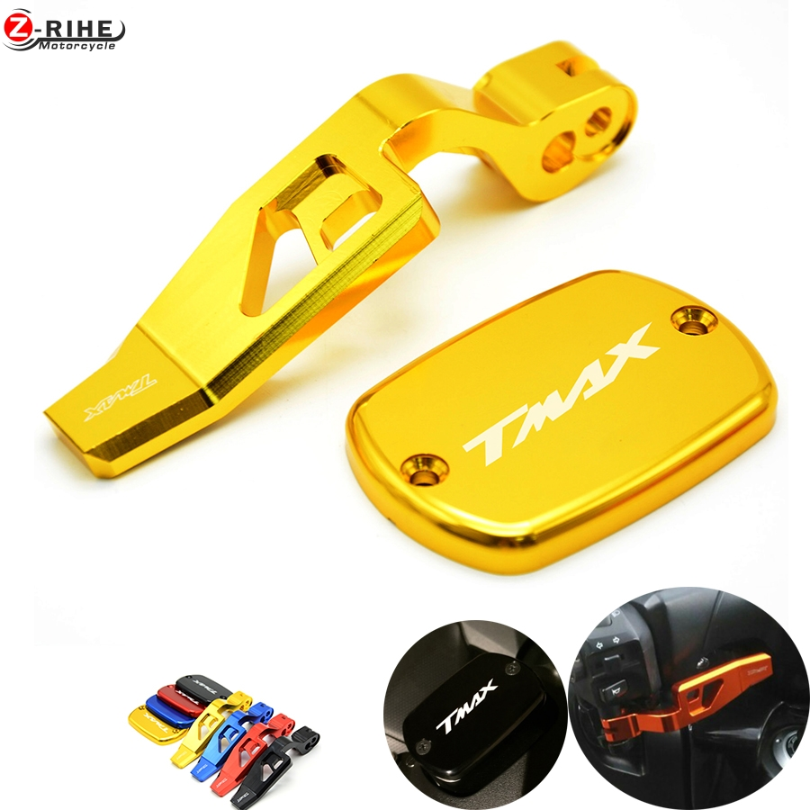 Motorcycle Front Brake Clutch Fluid Reservo Cap&Hand parking brake lever For Yamaha T-MAX 500 2008-2011 T-MAX530 2012-2014 2013 motorcycle cnc front brake fluid reservoir cap cover for yamaha t max 530 500 tmax530 xp530 2012 2016 tmax500 xp500 2008 2011