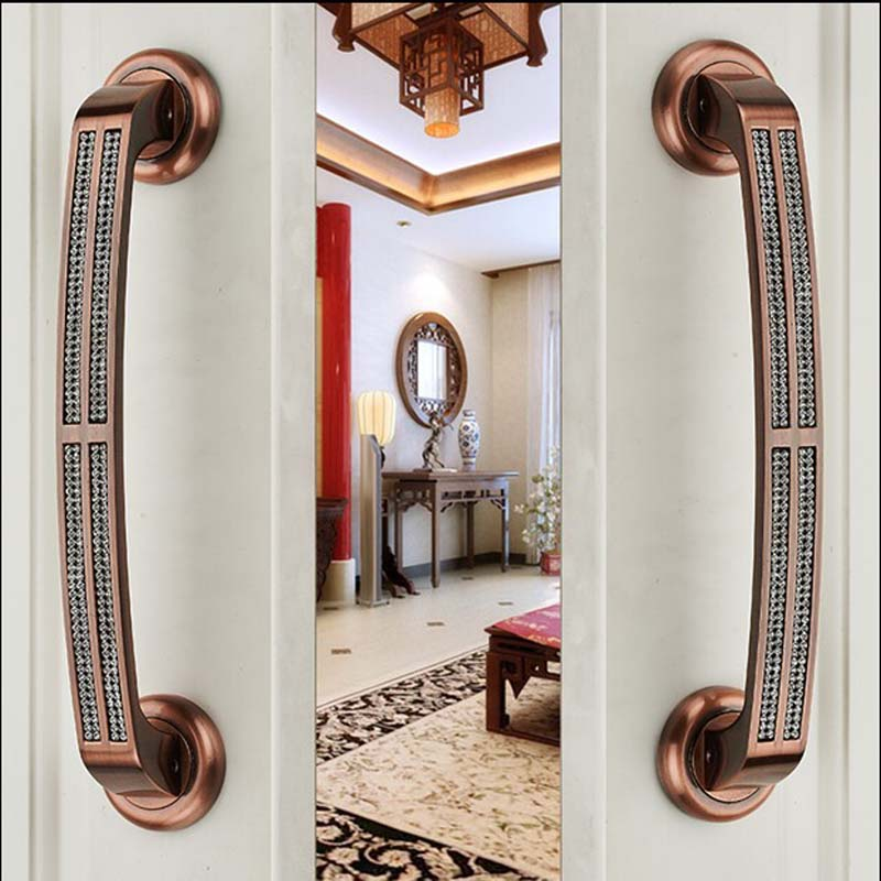 300mm High Quality Door Handles Pulls Antique Zinc Alloy Home ,Ktv ,Office ,Hotel Wooden Door Glass Door  Handles Pulls Dm16 high quality zinc alloy hasp latch lock door chain security anti theft clasp window cabinet locks for home hotel hardware k77