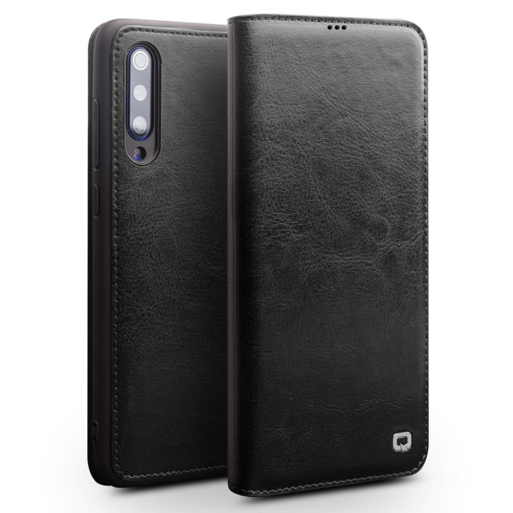 Image 2 - 100% Genuine Leather Case For Xiaomi Mi 9 Case 100% Cowhide Flip  Leather Case For Xiaomi Mi9 Mi 9 Transparent Edition CoverFlip Cases