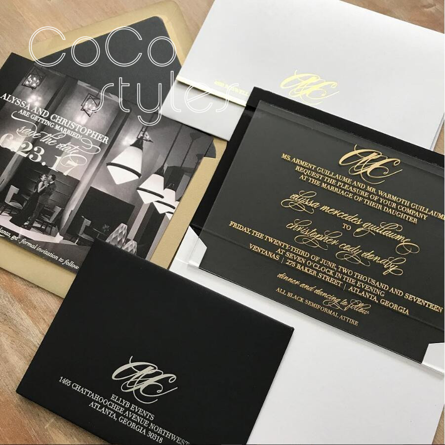 Cocostyles personalized fashion clear acrylic invitation
