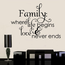 Family In Love Home Decor Creative Quote Wall Decals Removable Vinyl Stickers Art Sticker 3Q19