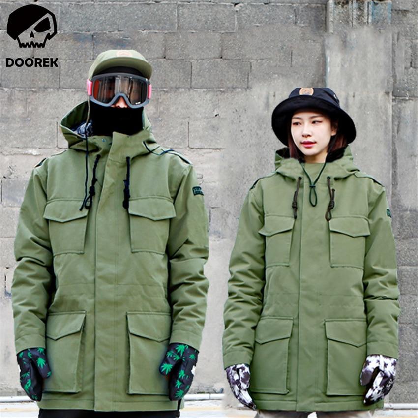 Prix pour Hiver Femmes Hommes Camouflage Ski Veste Imperméable Coupe-Vent Chaud Ski Manteau Épaissir Respirant Vêtements Snowboard Veste Outwear