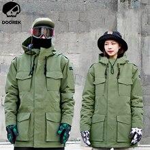 Winter Women Men Camouflage Ski Jacket Waterproof Windproof Warm Ski Coat Thicken Breathable Clothes Snowboard Jacket Outwear