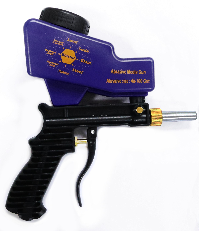 "Купить с кэшбэком LEMATEC Sandblaster Gun with 1/4"" Quick Coupler Connector and Nylon Air Hose  Gravity Feed Blasting Gun Abrasive Gun Tool"