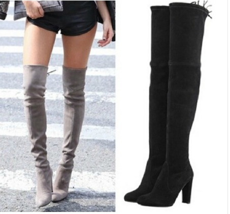 Compare Prices on Over The Knee Boots Stretch Slim Fit Lady Boots ...