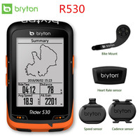 Bryton Rider 530 GPS Bicycle Bike Cycling Computer & Extension Mount ANT+ Speed Cadence Dual Sensor Heart Rate Monitor R530