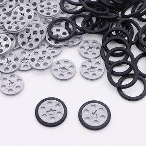 Image 1 - לבני טכני חלקי בתפזורת גלגלת כונן מדריך צמיגי טריז חגורת גלגלים כננות MOC אביזרי טכני אבני בניין צעצועים